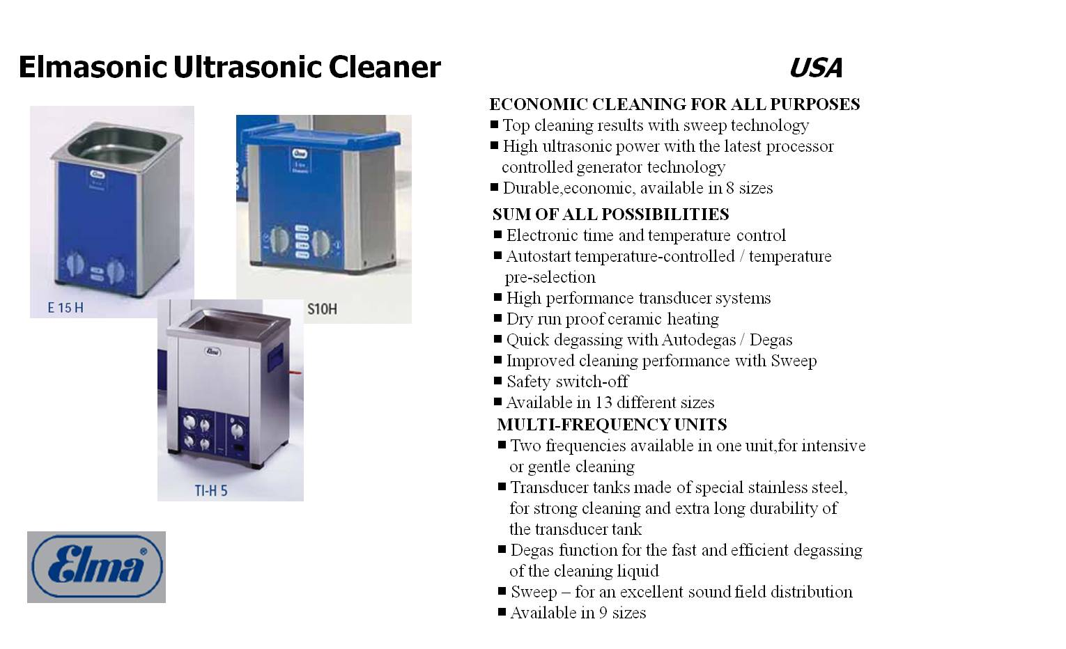 Telesemi Products - Elmasonic Cleaner